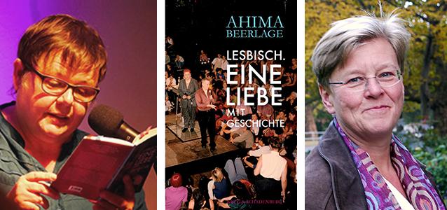 Ahima Beerlage und ihr Buch »Lesbisch - Eine Liebe mit Geschichte« und Verlegerin Andrea Krug